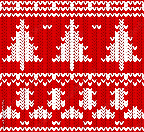 Jumper Pattern Christmas Sweater Design Seamless Knitted Pattern