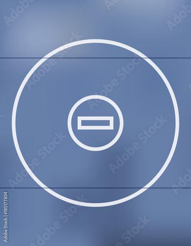 Fotografie, Obraz Blue Wrestling Mat Background Illustration