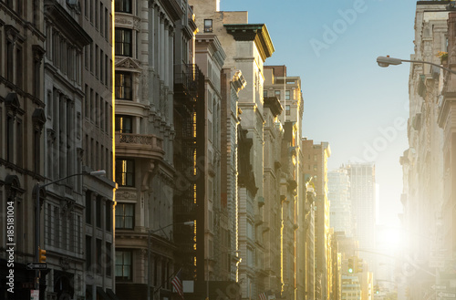 Sunset on 5th Avenue in New York City Canvas Print