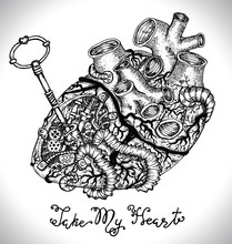 Design Set With Human Heart Wi...