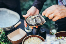 Man Eating Oyster