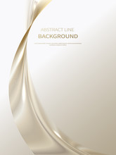 Abstract Background Of Luxury Gold Lines