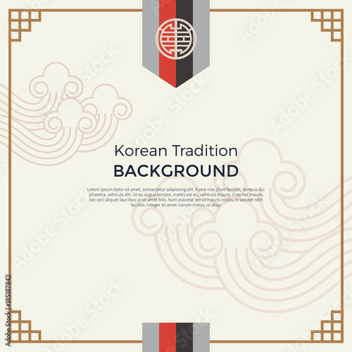 Korean traditional pattern background banner Wall mural