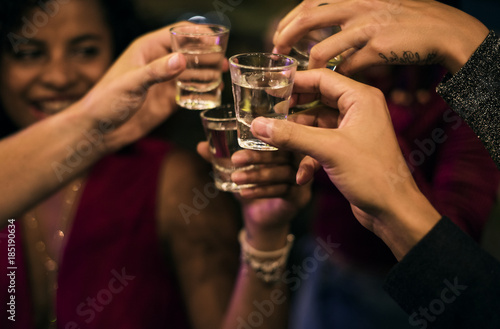 Fotografie, Tablou  People celebrating in a party