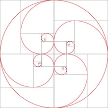 Fibonacci Spiral. Golden Ratio