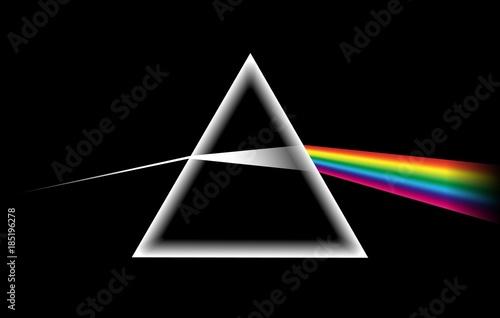 Fotografía Rainbow light prism