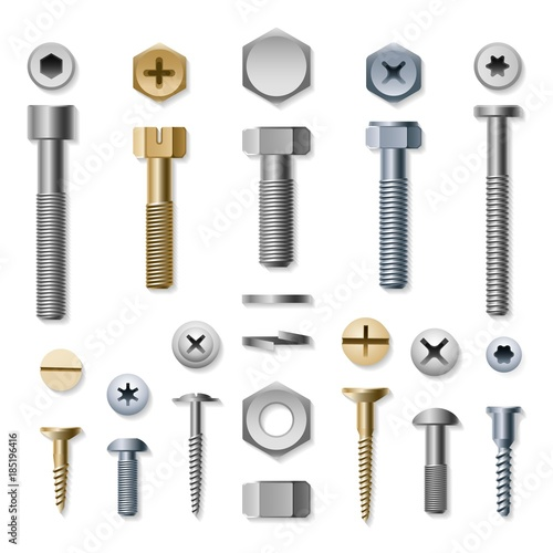 Fotografía Bolts and screws