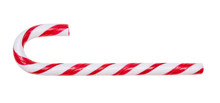 Candy Cane Isolated On White B...