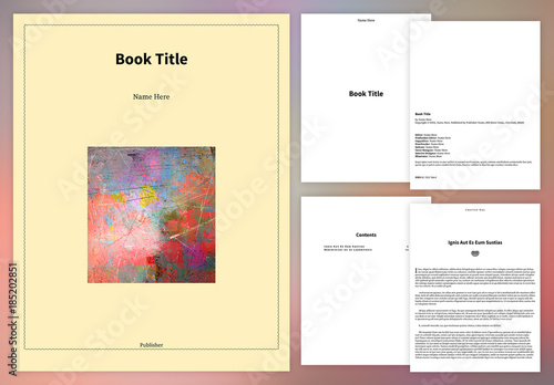 simple book layout for epub buy this stock template and explore