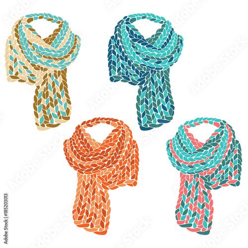 Fotografía Knitted scarf set