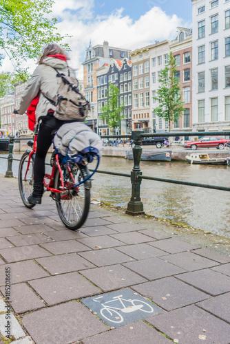 Fototapety, obrazy: Bicycle in Amsterdam, Netherlands.