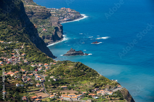 Viewpoint over the north coast of Madeira, Portugal Poster