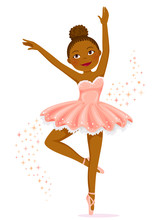 Cute Dark Skinned Ballerina Da...