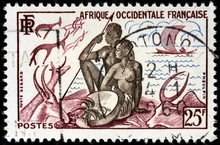 African Couple Stamp