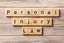 Personal Injury Law Word Writt...