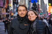 Couple Dans Times Square