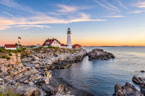 Photo sur Toile Phare Portland, Maine, USA