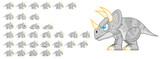 Fototapeta Dinusie - Dinosaur Game Character