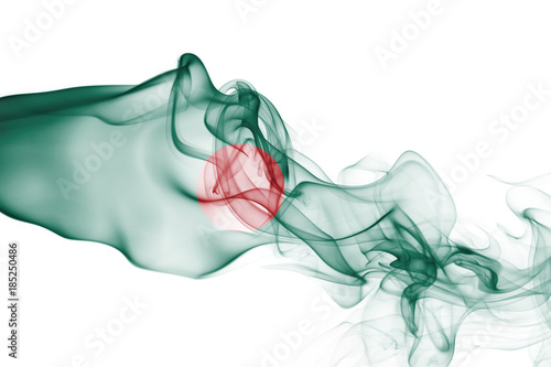 Photo Bangladesh smoke flag