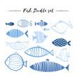 Fish doodle set