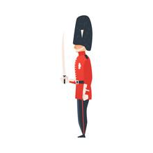 Vector Cartoon Queen Guard. Ma...