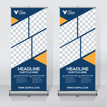 Roll Up Sale Banner Design Tem...