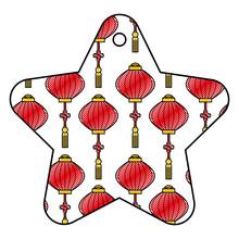 Star Tag Japanese Lantern Deco...