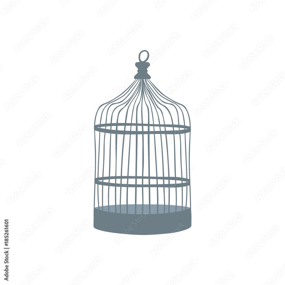 Fotografie, Obraz  Old bird cage. Vector