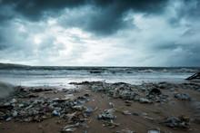 Garbage On Beach, Environmenta...