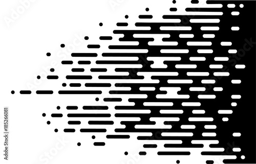 Fotomural Vector Halftone Transition Abstract Wallpaper