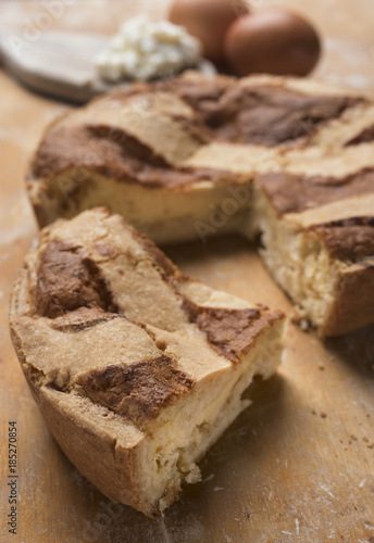 Fototapeta Pastiera napoletana - sweet typical of southern Italy