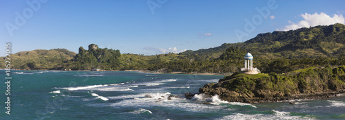Fotografia 180 degree panorama of beaches and mountains in the Dominican Republic near Puerto Plata