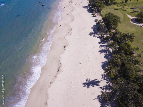 Foto op Plexiglas Caraïben Aerial view of beaches and resort with golf course near Puerto Plata in the Dominican Republic.