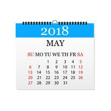 Monthly Calendar 2018. Tear-of...