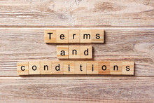 Terms And Conditions Word Writ...