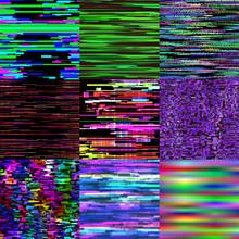 Glitch Background Vector Glitc...