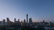 Timelapse.Beijing Landmark,Downtown Skyscrapers Skyline at Sunset,China