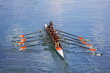 Team Of Rowing Four-oar Women ...