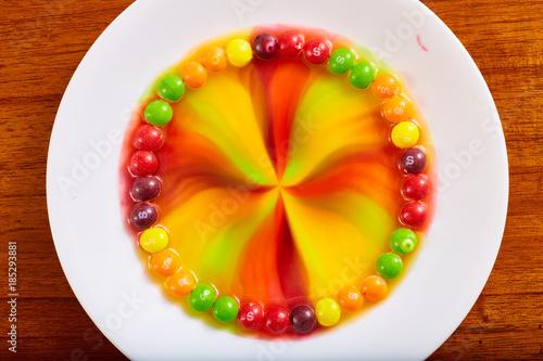 Skittles Rainbow in Water Canvas Print