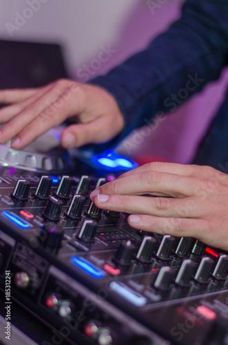 Mesa de DJ Canvas Print
