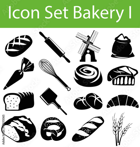 Foto Icon Set Bakery I