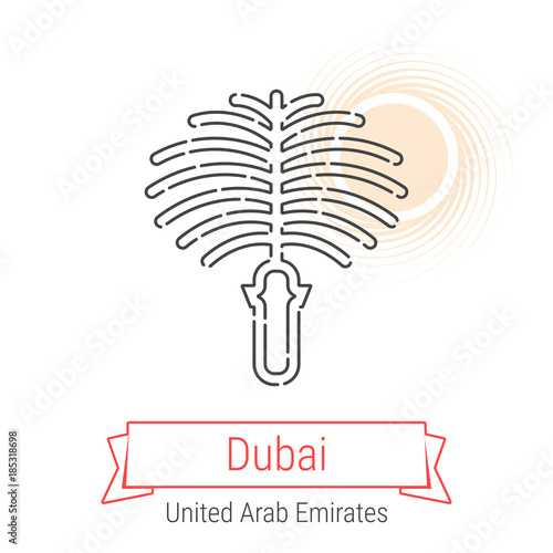 Photo  Dubai, United Arab Emirates Vector Line Icon