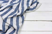 Blue Stripped Table Cloth