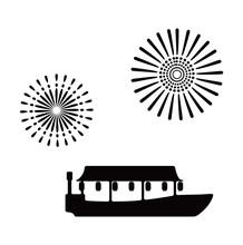 Tokyo Houseboat Cruise Illustration