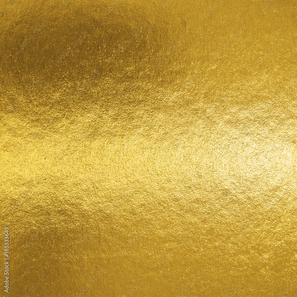 Fototapety, obrazy: Gold foil leaf shiny metallic wrapping paper texture background for wall paper decoration element