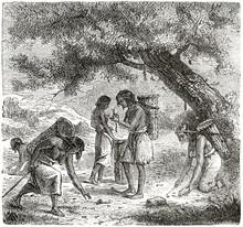 Old Illustration Of Native Ame...