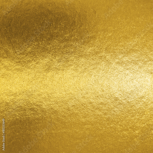 Gold foil leaf shiny metallic wrapping paper texture background for wall paper decoration element Wall mural