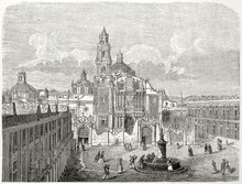 Ancient Overall View Of Santo ...