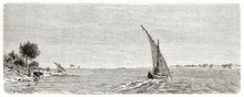 Old Large View Of White Nile I...
