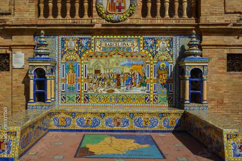 Spain Andalusia Sevilla Plaza de Espana alcove Slika na platnu